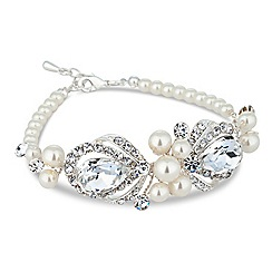 Alan Hannah Devoted - Designer peardrop and pearl hand wrapped bracelet