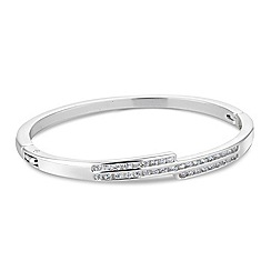 Jon Richard - Cubic zirconia triple row bangle