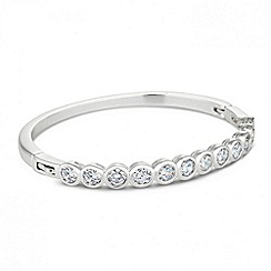 Jon Richard - Cubic zirconia solitaire stone bangle