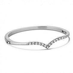 Jon Richard - Cubic zirconia silver wishbone bangle