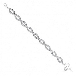 Jon Richard - Diamante crystal twist silver bracelet