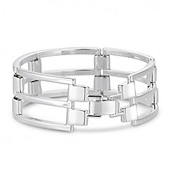 Jon Richard - Polished silver open link bracelet