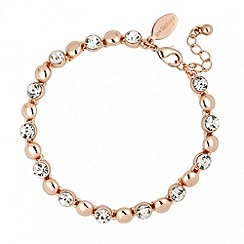 Jon Richard - Rose gold crystal and polished ball bracelet