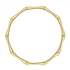 Jon Richard - Polished gold bamboo effect bangle