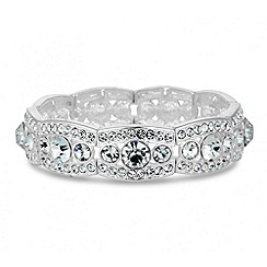 Jon Richard - Graduating crystal surround panel stretch bracelet