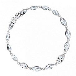 Jon Richard - Silver crystal marquis stone link bracelet
