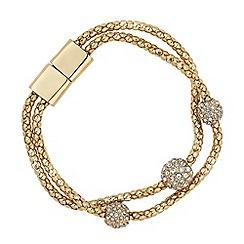 Jon Richard - Crystal embellished triple ball multi row bracelet