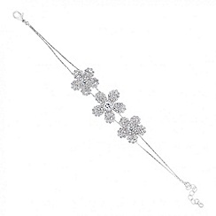 Jon Richard - Diamante crystal triple flower bracelet