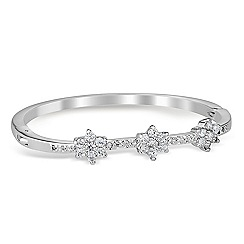Jon Richard - Cubic zirconia triple flower bangle