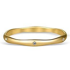 Jon Richard - Crystal encased gold wave bangle