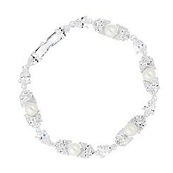 Alan Hannah Devoted - Designer jasmine cubic zirconia and pearl bracelet