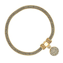 Jon Richard - Crystal disc charm gold mesh bracelet
