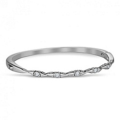 Jon Richard - Cubic zirconia encased multi link silver bangle