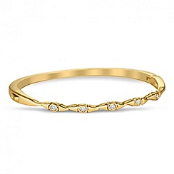 Jon Richard - Cubic zirconia encased multi link gold bangle
