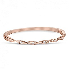 Jon Richard - Cubic zirconia encased multi link rose gold bangle