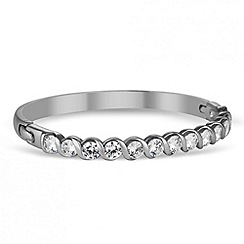 Jon Richard - Statement cubic zirconia twist silver bangle