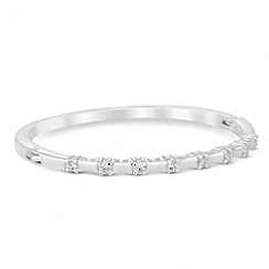 Jon Richard - Bamboo style crystal encased bangle