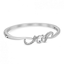 Jon Richard - Cubic zirconia swirl embellished bangle