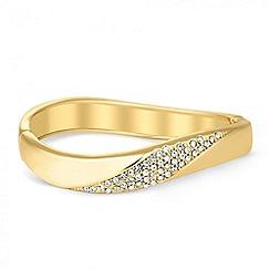 Jon Richard - Polished gold crystal wave bangle