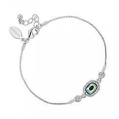 Jon Richard - Iridescent green crystal pendant bracelet MADE WITH SWAROVSKI ELEMENTS