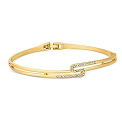 Jon Richard - Crystal embellished gold interlock bangle