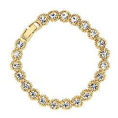Jon Richard - Diamante and polished gold bead twist bracelet