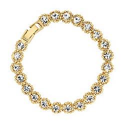 Jon Richard - Diamante and polished gold bead twist bracelet