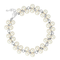 Jon Richard - Lily pearl and mini crystal bracelet