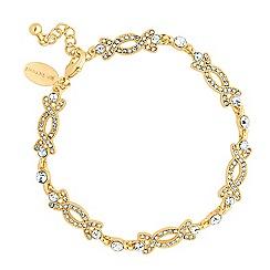 Jon Richard - Orchid vintage gold tone bracelet