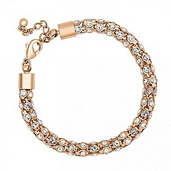 Jon Richard - Crystal encased gold popcorn effect bracelet