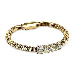 Jon Richard - Crystal bar and gold popcorn chain bracelet