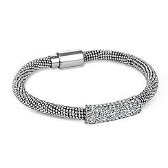 Jon Richard - Crystal bar and silver popcorn chain bracelet