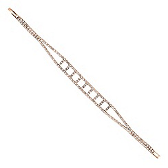 Jon Richard - Diamante encased rose gold ladder bracelet