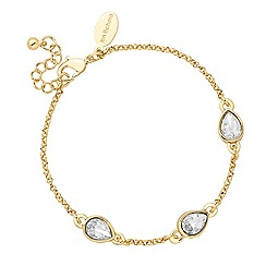 Jon Richard - Gold crystal teardrop link bracelet