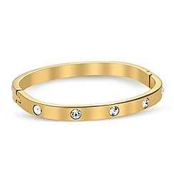 Jon Richard - Crystal encased gold curved bangle
