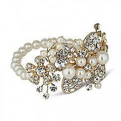 Jon Richard - Online exclusive gold plated and glass pearl flower bracelet