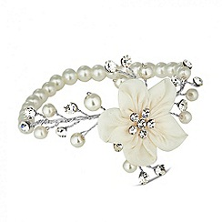 Alan Hannah Devoted - Designer primrose silk flower stretch bracelet