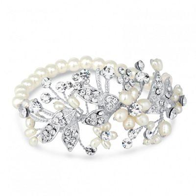 Alan Hannah Devoted Designer blossom freshwater pearl and pave bracelet - . -