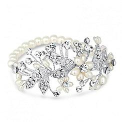 Alan Hannah Devoted - Designer blossom freshwater pearl and pave bracelet