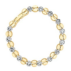 Jon Richard - Polished gold and crystal link bracelet