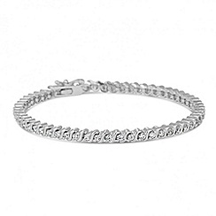 Jon Richard - Cubic zirconia encased silver twist bracelet