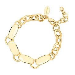 Jon Richard - Polished gold scalloped chain link bracelet