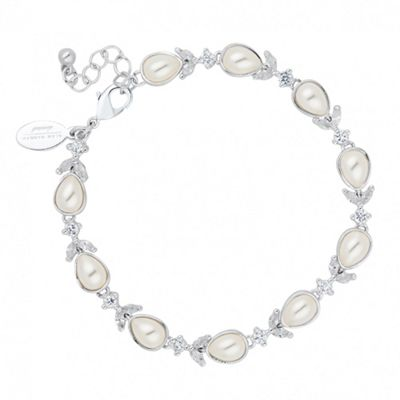 Alan Hannah Devoted Designer cubic zirconia and peardrop bracelet - . -