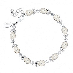 Alan Hannah Devoted - Designer cubic zirconia and peardrop bracelet