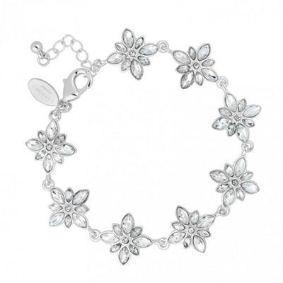 Alan Hannah Devoted Designer crystal cluster flower link bracelet - . -