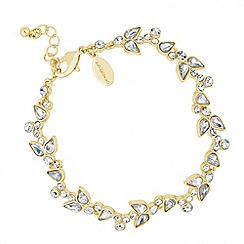 Jon Richard - Crystal peardrop and bubble link bracelet