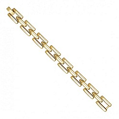 Jon Richard - Polished gold gate link bracelet