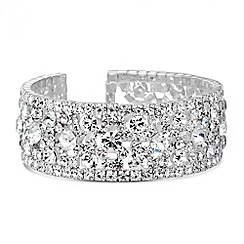 Jon Richard - Diamante crystal embellished bubble cuff