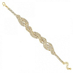 Jon Richard - Diamante crystal gold twist bracelet