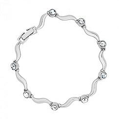 Jon Richard - Crystal encased wave link bracelet